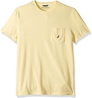 fddbca4516120 Amazon.com: Nautica Men's Solid Crew Neck Short Sleeve Pocket T ...