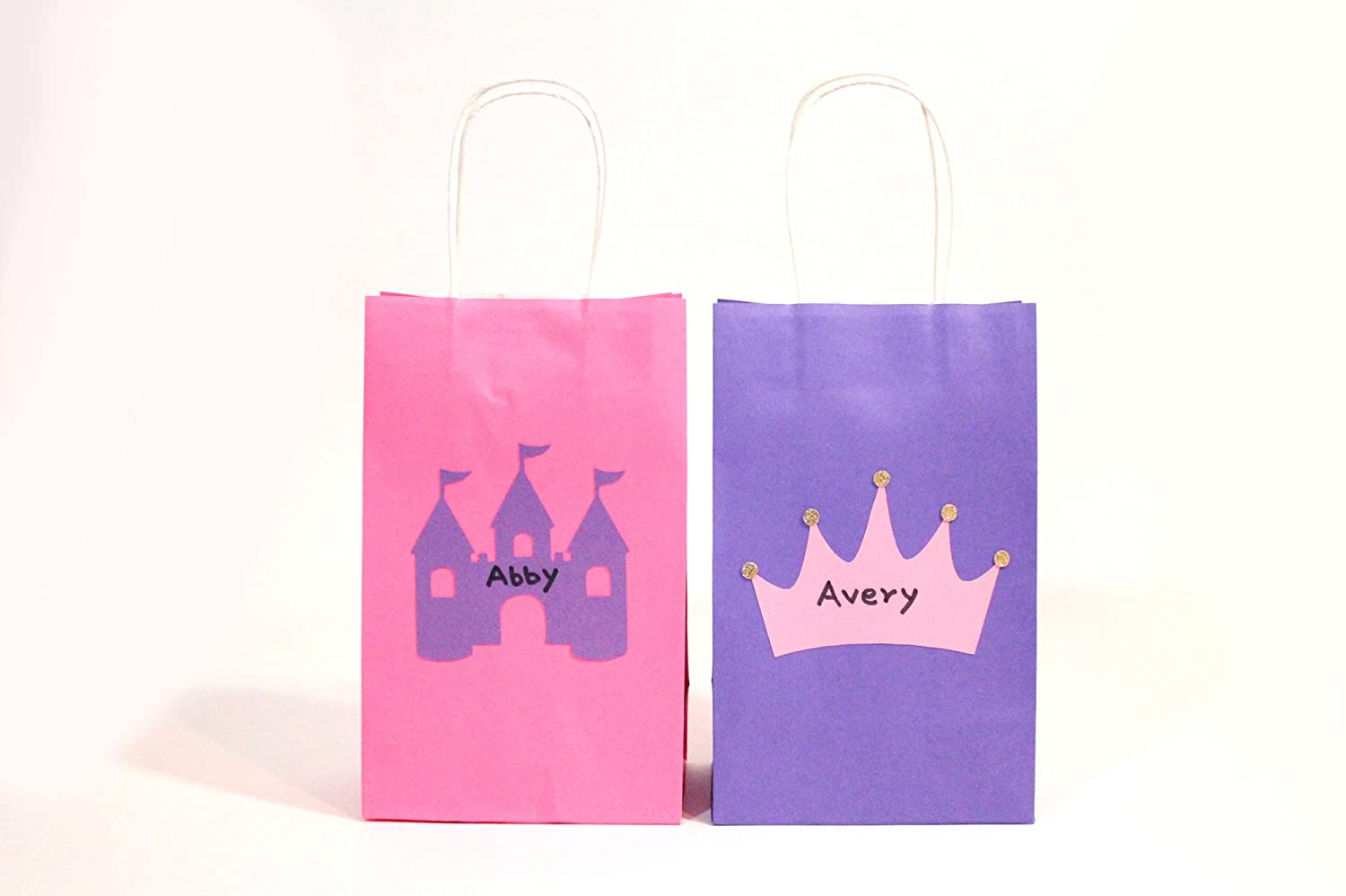 Amazon.com: Once Upon a Time - Favor Bags | Pink, Purple | with Gift ...