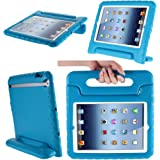 Apple iPad Air / iPad 5 Case, i-Blason ArmorBox Kido Series Light Weight Super Protection Convertible Stand Cover Case for Kids Friendly + [Life Time Warranty] (Blue)