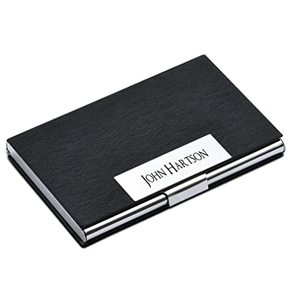 Amazon personalize free custom engraving credit card business personalize free custom engraving credit card business card holder card case black colourmoves
