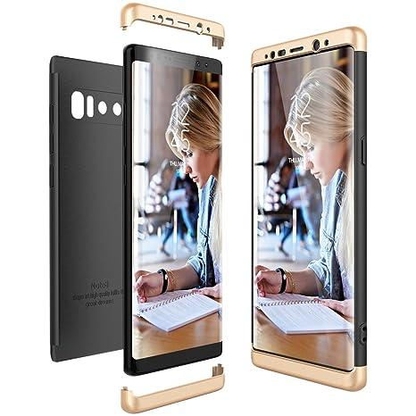 CE-Link Funda Samsung Galaxy Note 8, Carcasa Fundas para Samsung Galaxy Note 8, 3 en 1 Desmontable Ultra-Delgado Anti-Arañazos Case Protectora - Oro + ...