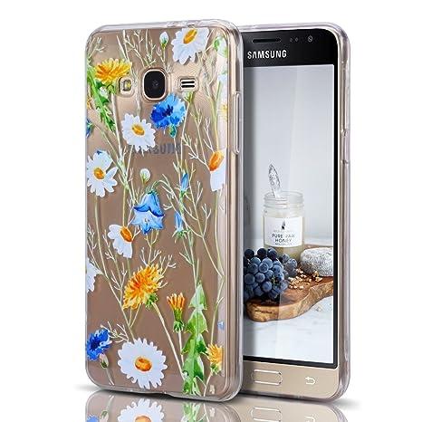Funda Samsung J3 2016, CaseLover Carcasa Case Silicona Gel Ultra Fina Flexibilidad Transparente Anti-rasguños Impresión Estética Cover para Samsung ...