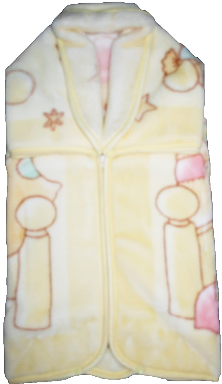 Decke Größe Bebe–Baby Tasche Wunderkind 116- Theme Bärchen und Kätzchen in Wiege beige