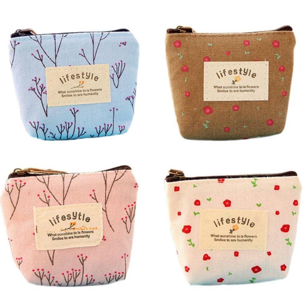 Design Women Card Bag Earphone Container Coin Purse Wallet Key Storage Bag