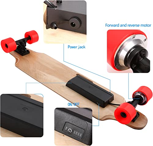 Aceshin Electric Skateboard Motorized Skateboard 20 KM H Top Speed, 250W Motor,7 Layers Maple Longboard with Wireless Remote Control Gift for Adult Kids Teens
