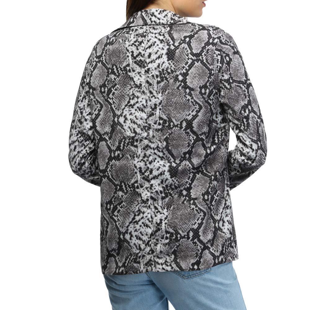 Amazon.com: Chaqueta de manga larga para mujer, cuello de ...