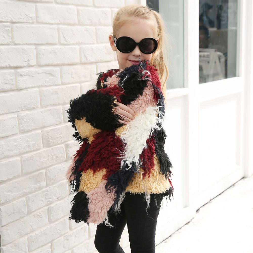 Lifestyler Fashion Kids Girls Autumn Winter Faux Fur Coat Jacket Thick Warm Covered Button Outwear