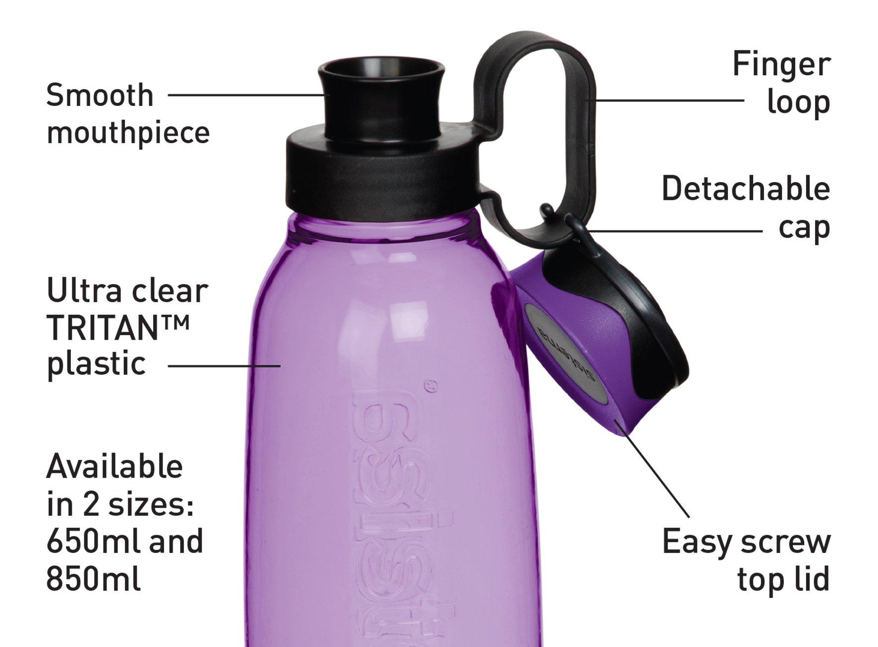 Plastic Sistema 800ml Tritan Quick Flip Bottle Lilac