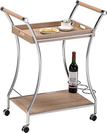 Meuble de Rangement /à roulettes Ardentity Chariot de Service de Chariot de Cuisine Id/éal pour Cuisine Salle de Bain Etag/ère Mobile