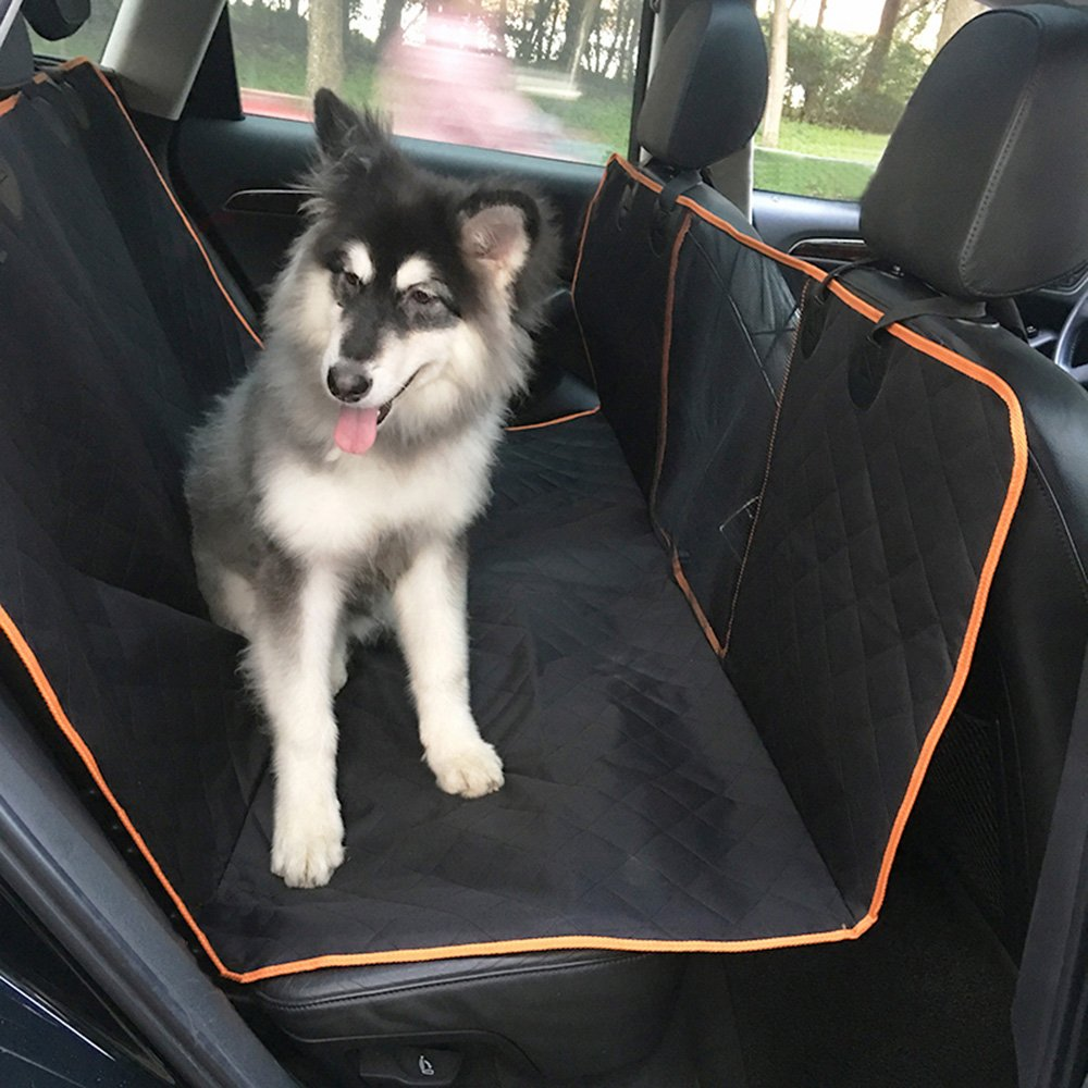 a34dac535f24 Amazon.com: DeemoShop Car Pet Cushion Rear Seat Cover Double Layer ...