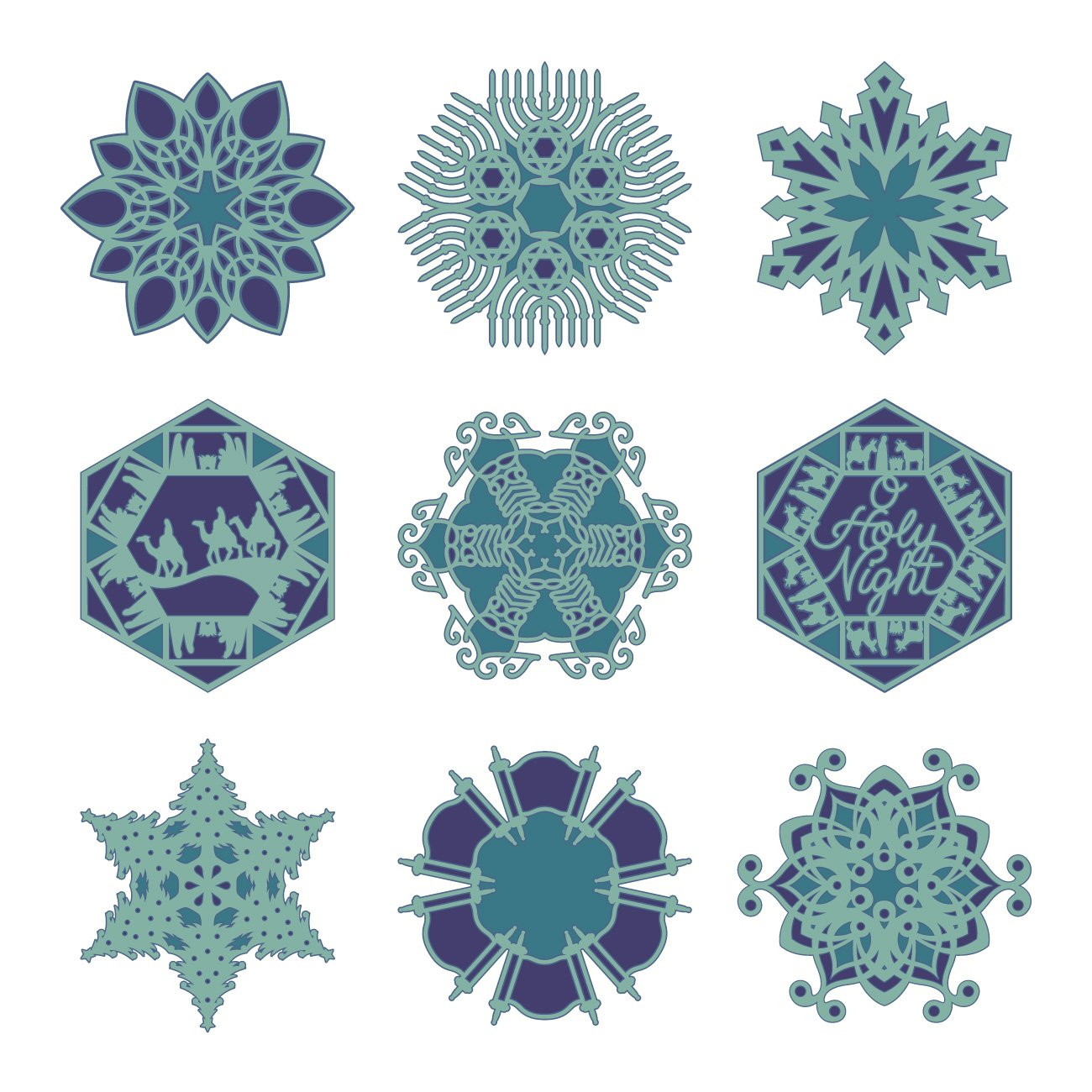 Cricut 2002575 Holiday Snowflakes Cartridge