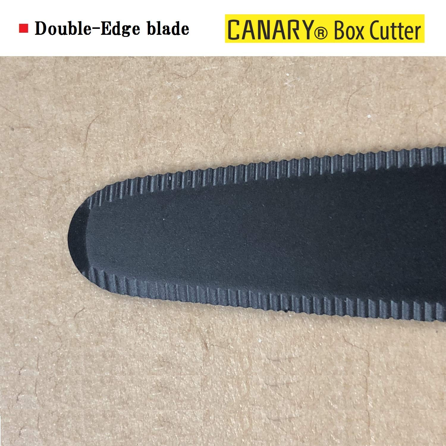 CANARY Corrugated Cardboard Cutter''Dan Chan'' [Non-Sticking Fluorine Coating], Yellow (DC-190F-1) (5 pcs) by CANARY (Image #4)