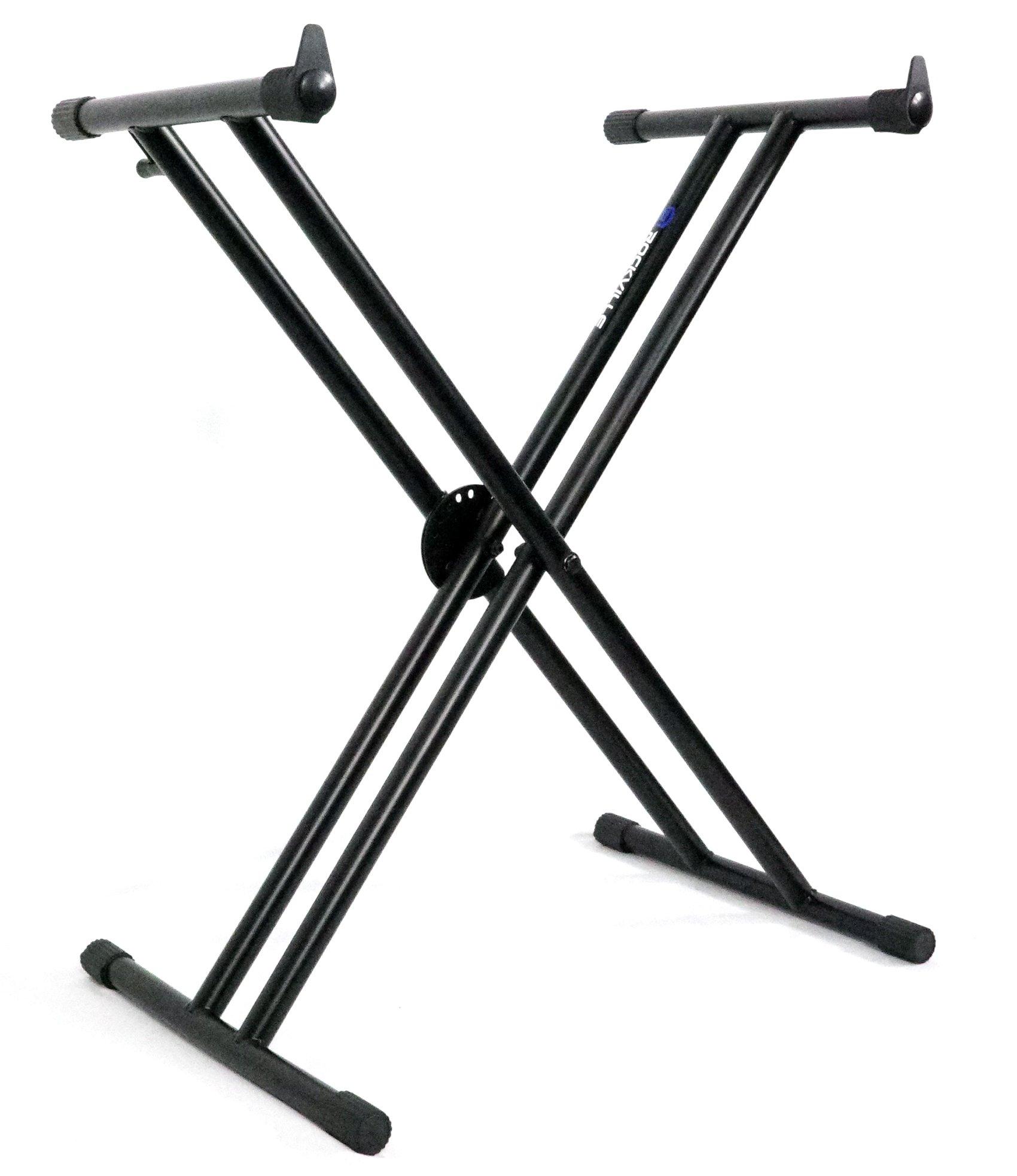 Rockville RKS30X Double X Braced Keyboard Stand w Push Button Lock Mechanism!
