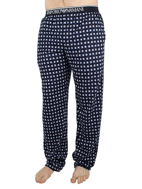 Emporio Armani 1115016P567-Parte Inferior del Pijama Hombre Mehrfarbig (QUADRET Marine/Bianc 29135