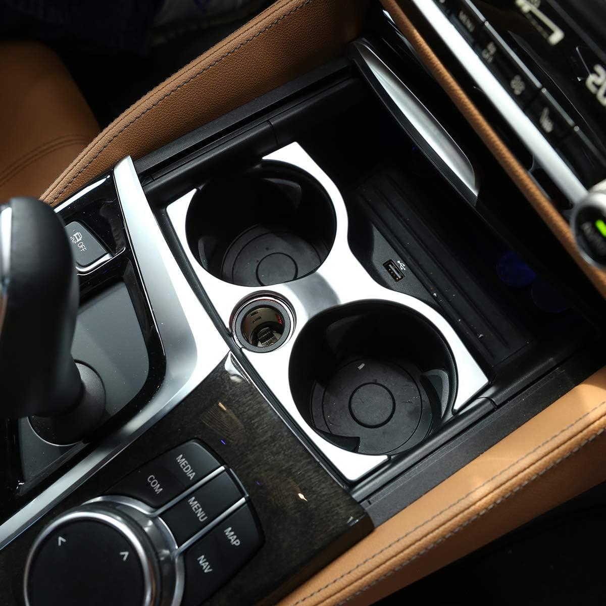 ABS Matte Cup Holder Decoration Frame Trim For 5 Series G30 G38 2018-2020