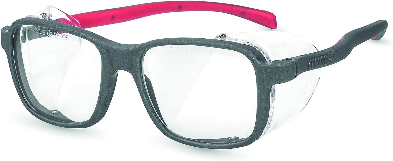 Pegaso 2009 Gafas de Seguridad Laboral, Gris y Rojo, L