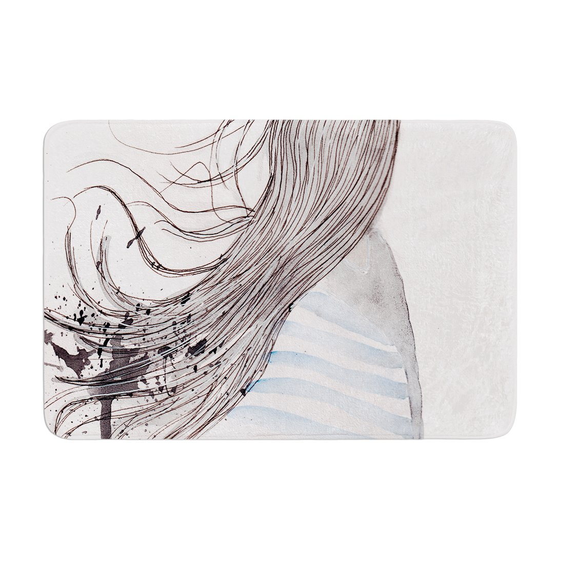 Kess InHouse 'Louise Breeze Gray Blue Memory Foam Bath Mat, 17 by 24'