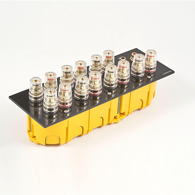 LKL002 Lyndahl Highend Lautsprecherblende LKL001 passend f/ür Unterputzdose//Wandeinbaudose Wandanschlussblenden Surround System Wei/ß 7.1 LKL005 und LKL007 f/ür Lautsprecher