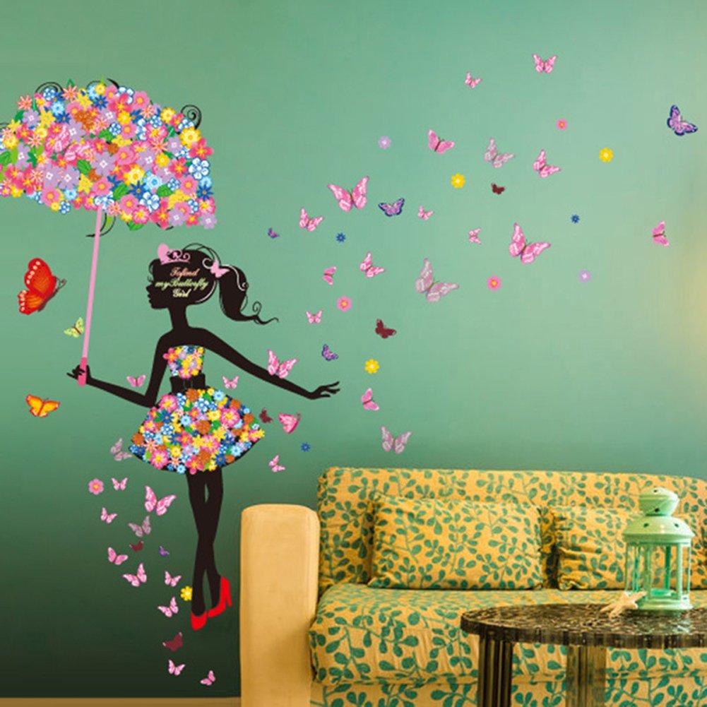 Details about  /3D Pink Flower 9215 Wallpaper Murals Floor Wall Print Decal Wall Sticker AU