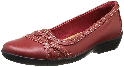 Clarks Womens Ordell Tessa Ballet Flats Red Size 4