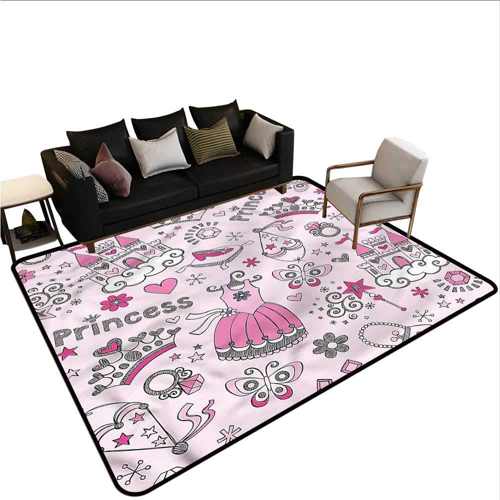 "Kids,Multi-USE Floor MAT 80\""x 120\"" Princess Slippers Fairy Castle All Weather Floor mats 71KqCqjGlbL._SL1000_"