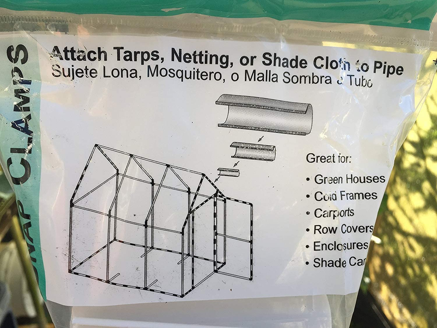 Snap Clamp 1/2 Inch X 4 Inches Wide For 1/2 PVC Pipe White 10 per Bag : Pipe Fittings : Garden & Outdoor