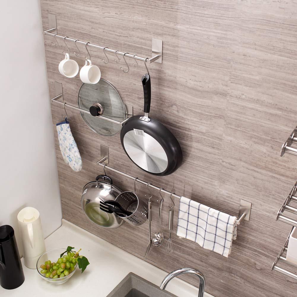 Towel S Hooks Waterproof Rustproof Heavy Duty Robe S Hooks for Hanging Kitchen Bathroom Bedroom Coats. Medium-10PCS Stainless Steel S Shaped Hooks