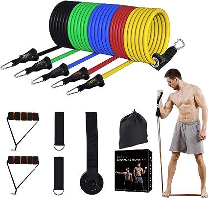 13Pcs Fitness Resistance Loop Bands Set Gym Yoga Exercise Workout Tube Pilates