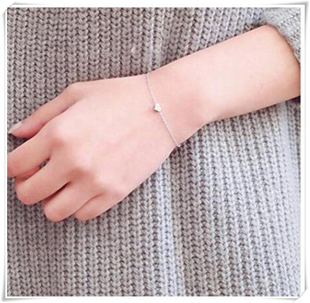 Tiny Silver Heart Bracelet One Life jq37