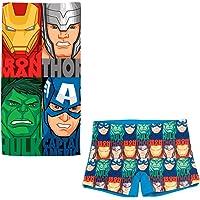 ARTESANIA Y DISEÑO TEXTIL, S.A. Bañador Avengers Los Vengadores Tipo Bóxer para niños + Toalla Vengadores Microfibra…
