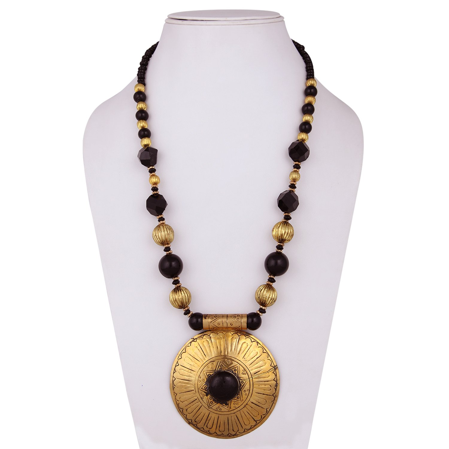 online collections pearl products necklace buy black necklaces brass set zinnga color