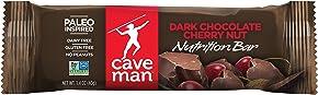 Caveman Foods Paleo-Friendly Nutrition Bar, Dark Chocolate Cherry Nut, 1.4 oz, 15 count