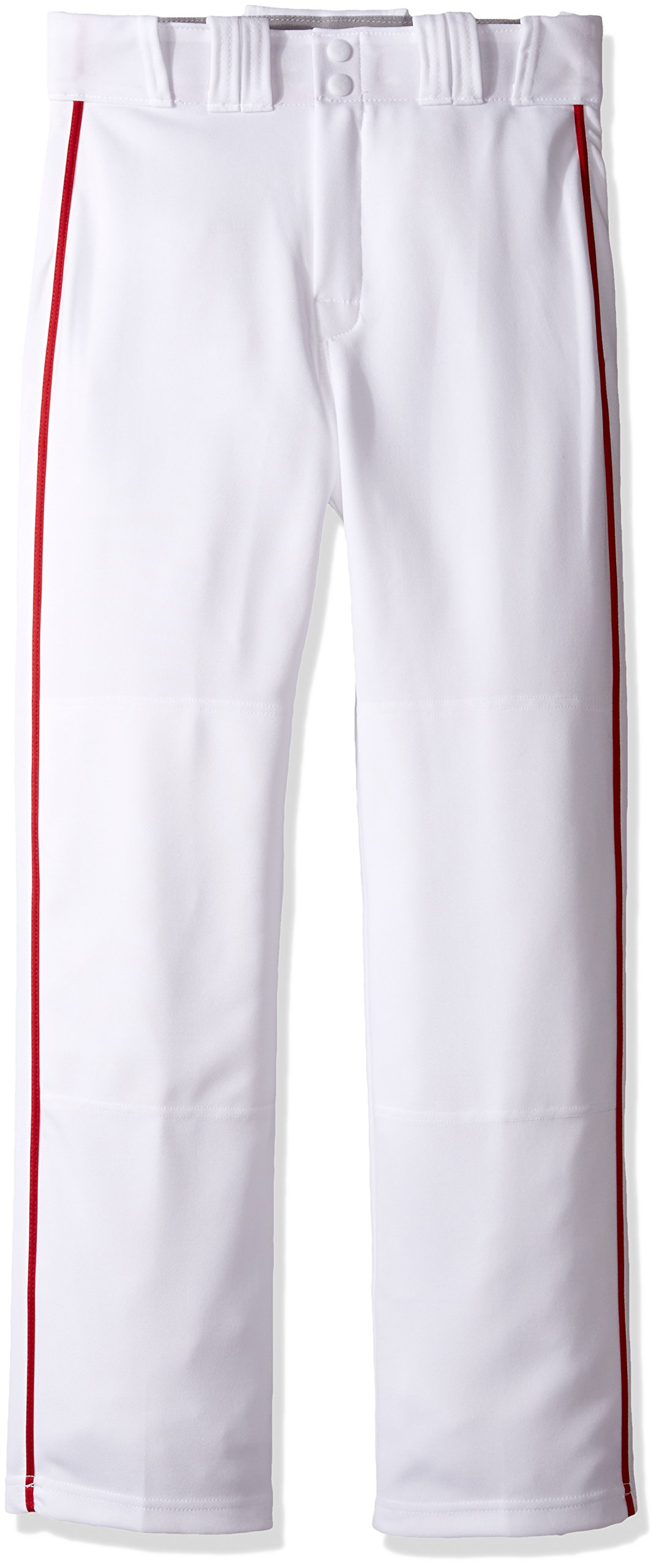 Easton Rival 2 Baseball Softball Pant | Youth | Small | White Red | 2020 | Double Reinforced Knee | Elastic Waistband w/ 2 Color Internal Logo | 2 Batting Glove Pockets | 100% Polyester