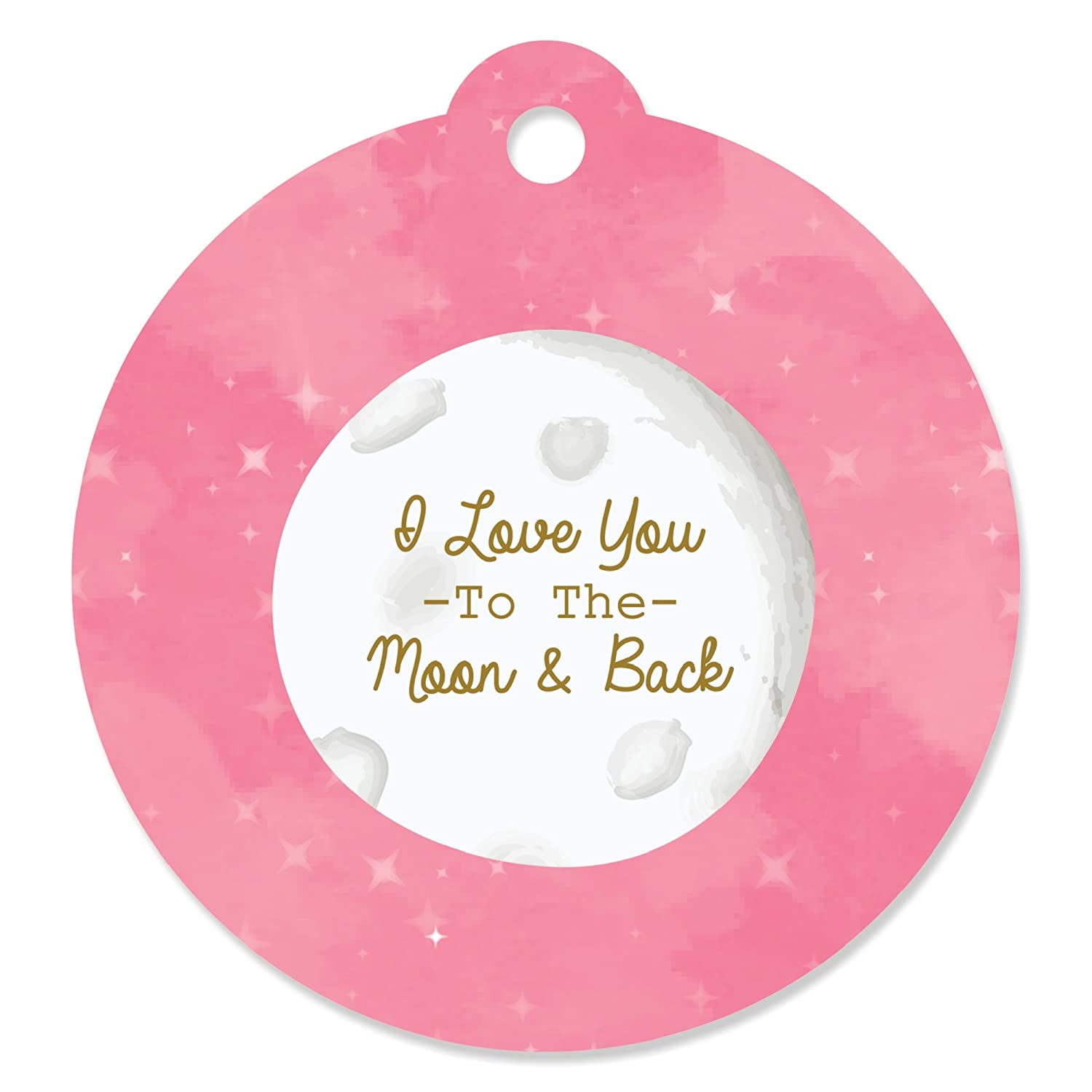 Baby Shower or Birthday Party Favor Gift Tags Pink Twinkle Twinkle Little Star Set of 20
