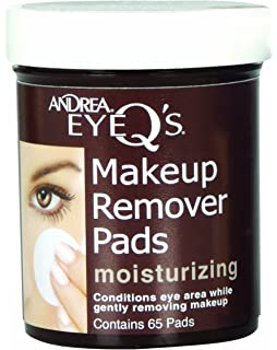 Andrea Eye Qs Moisturizing Eye Makeup Remover Pads, 65-Count (Pack of 3