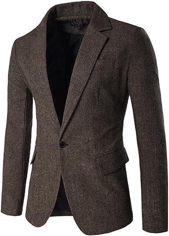Blazer Slim Fit Un Bouton Veste de Costume Jacket Modèle