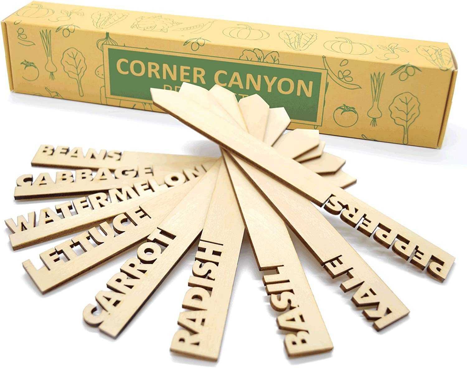 Wooden Plant Labels for Garden - 20 Plant Markers are Great Garden Gifts to Label Outdoor Or Indoor Plants, Vegetable, Herb, Pots, Ect.