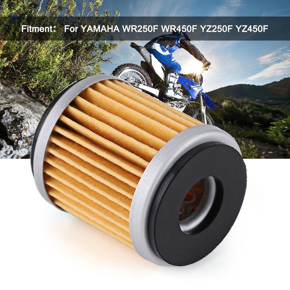 Qiilu Filtro dellOlio Combustibile del Motore del Motociclo per Yamaha WR250F WR450F YZ250F YZ450F 2