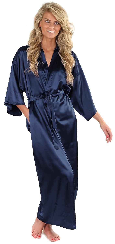 8744822b3901 VEAMI Women's Kimono Robe-Galaxy Blue-Medium, Long at Amazon Women's ...