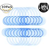 Mouthpieces for Watch Ya Mouth/Speak Out Game ,Juliu 10pcs C-SHAPE C-Shape BlueTeeth Whitening Intraoral Cheek Lip Retractor Mouth Opener for Hilarious, Mouth Guard Party Game, Medium Size
