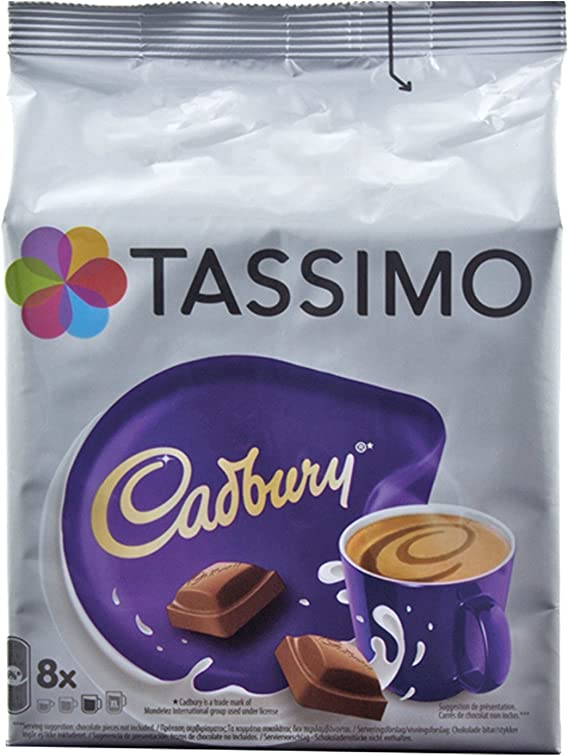 Tassimo Cadbury Hot Chocolate 8 Discs 8 Servings
