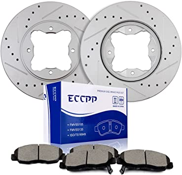 Front Brake Ceramic Pads 4pcs//set For 2004-2008 Acura TL Low Dust and Noise