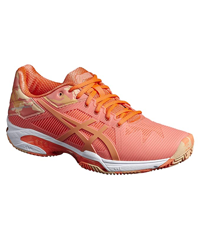 ASICS Gel Solution Speed 3 Clay Naranja Mujer E854N 0630: Amazon ...