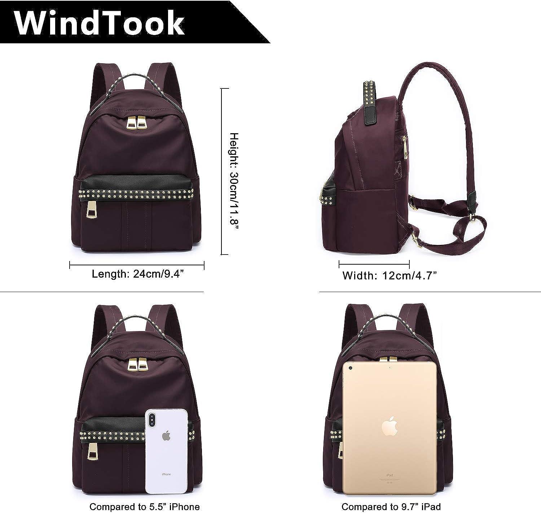 WindTook Sac /à Dos Femme Loisir Sac d/école Mini Sac /à Main Voyage Mode Coll/ège