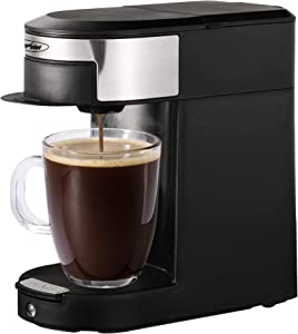 Stamo Single Serve Coffee Brewers, Multi-Use Coffee Maker for Most Coffee Pods Bags, 10OZ One-Touch Button Coffee Machine, Single-Serve Coffee Brewers for PODS, Quick Brew Technology, Auto Shut Off