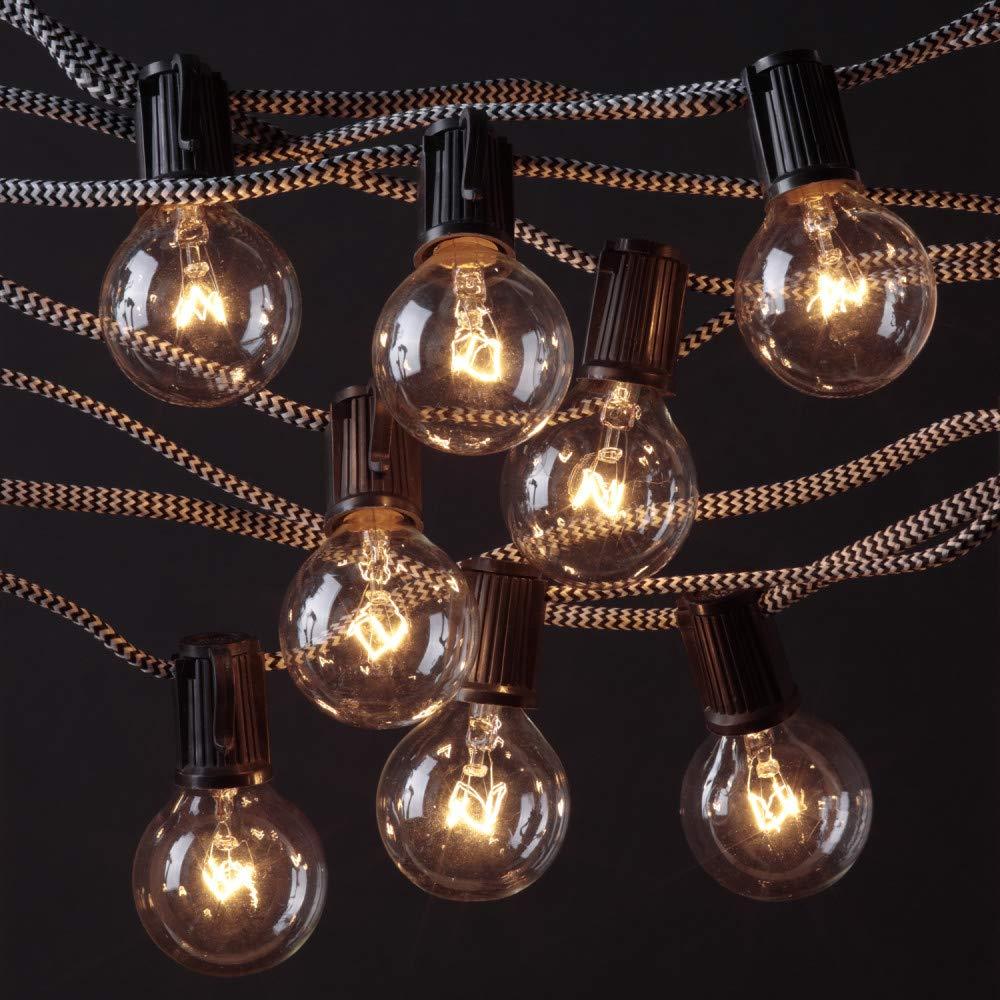 Novogratz x Globe Electric Denver Designer Series 10 ft Indoor//Outdoor String Light Round Vintage Edison Bulbs Included 67800