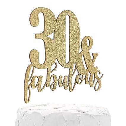 nanasuko Decoración para Tarta para 30 cumpleaños – 30 & ...