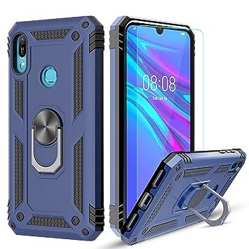 LeYi Funda Huawei Honor 8A / Y6 2019 Armor Carcasa con 360 Anillo iman Soporte Hard PC y Silicona TPU Bumper antigolpes Fundas Case para movil Huawei ...