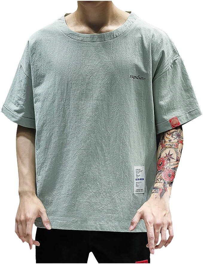 Vectry Hombres Verano Moda Casual Patchwork O-Cuello De Manga Corta Camiseta Tops Blusa Blusa Hombre Polo Hombre 2019 Verano Camisa Hombre: Amazon.es: Ropa y accesorios