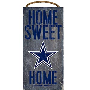 "NFL Football 6"" x 12"" Home Sweet Home Wood Sign"